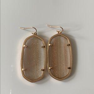 Kendra Scott Danielle earrings:rose gold gradient